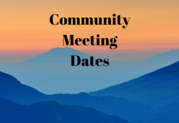 Community Meetings Dates