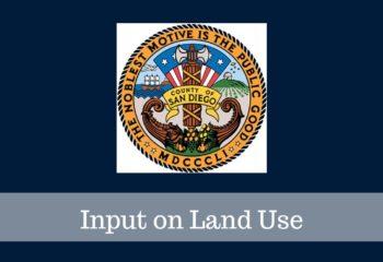 Input on Land Use